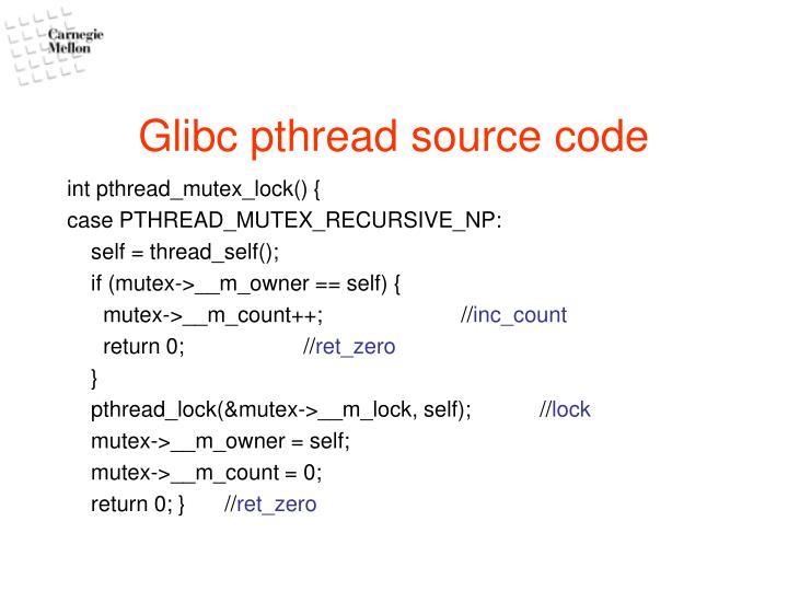 Glibc pthread source code