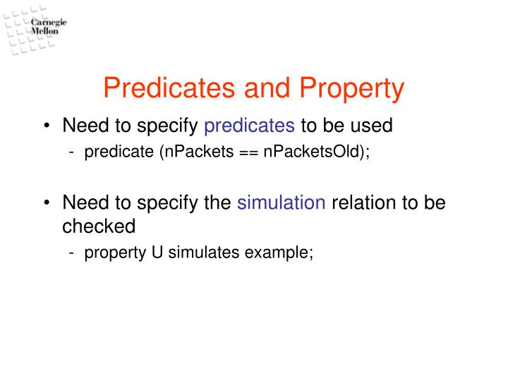 Predicates and Property