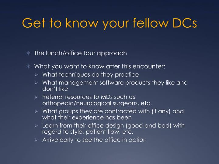 Get to know your fellow DCs