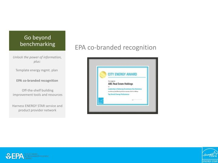 EPA co-branded recognition