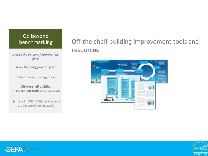Off-the-shelf building improvement tools and resources