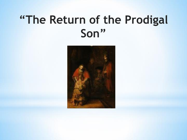 """""""The Return of th"""
