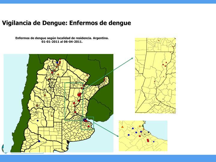 Vigilancia de Dengue: Enfermos de dengue
