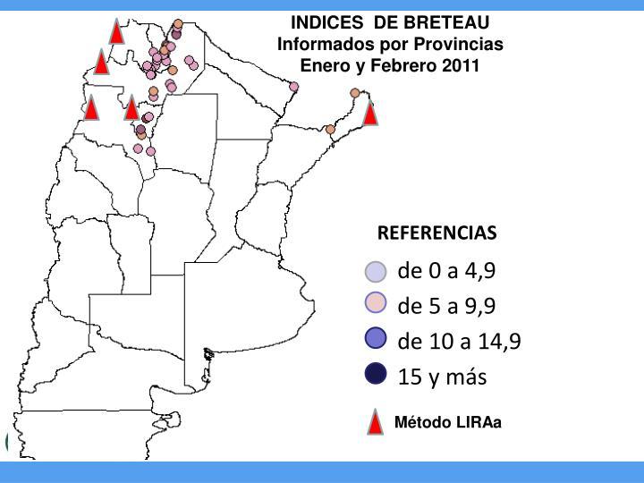 INDICES  DE BRETEAU