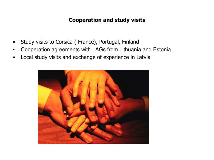 Cooperation and study visits