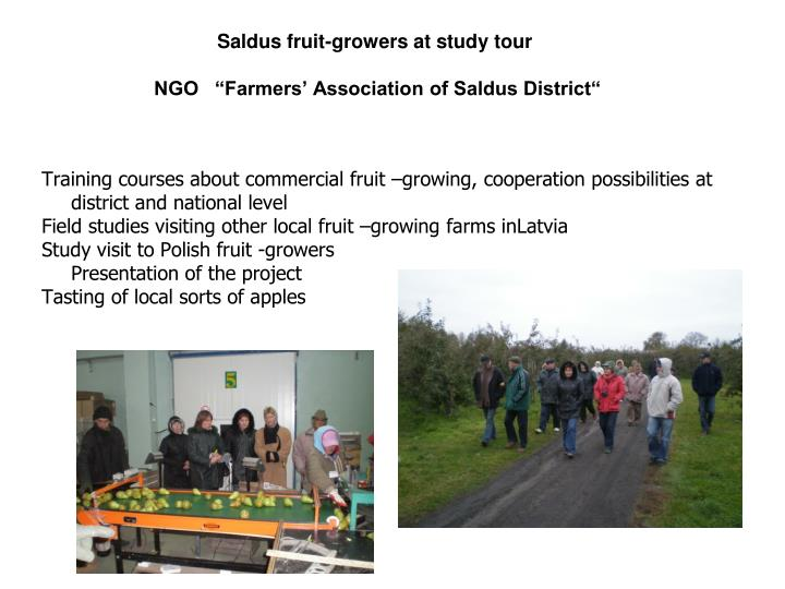 Saldus fruit-growers at study tour