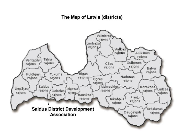 The map of latvia districts