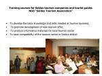 training courses for saldus tourism companies and tourist guides ngo saldus tourism association