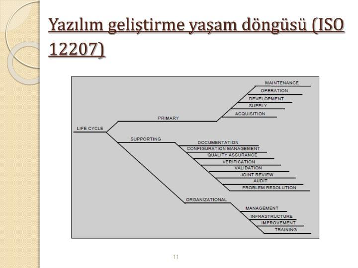 Yazılım geliştirme yaşam döngüsü (ISO 12207)