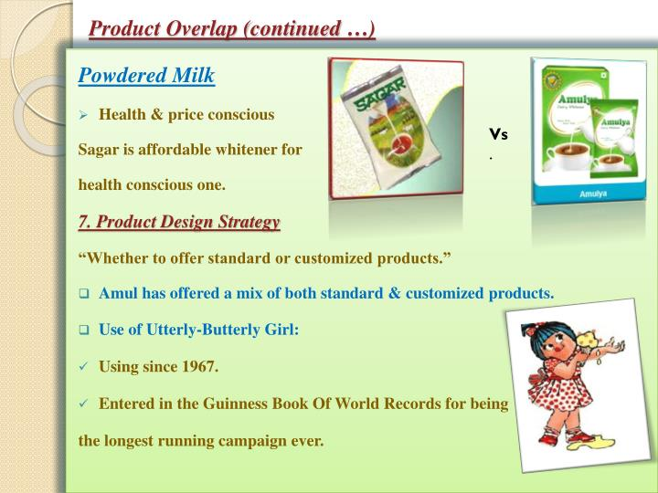 Product Overlap (continued …)