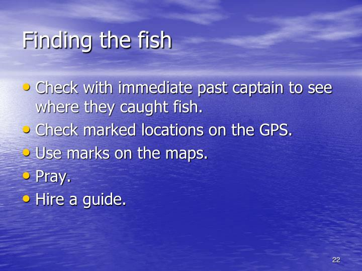 Finding the fish