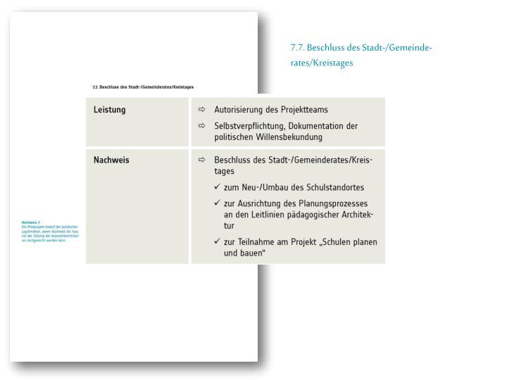 7.7. Beschluss des Stadt-/Gemeinde-