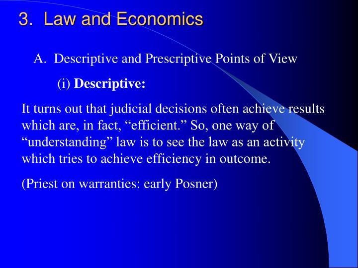 3.  Law and Economics