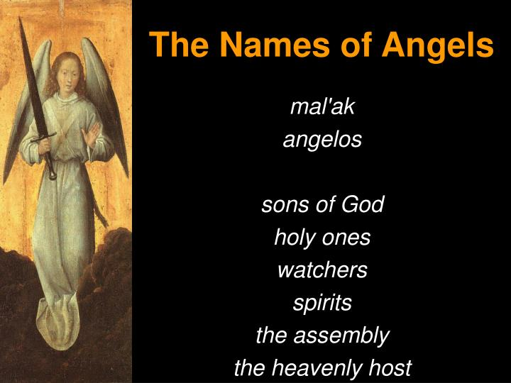 The Names of Angels