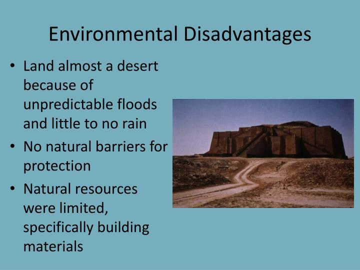 Environmental Disadvantages