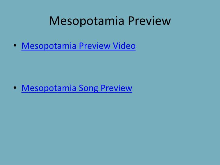 Mesopotamia Preview