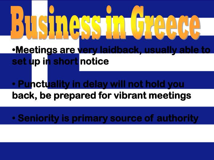 Business in Greece