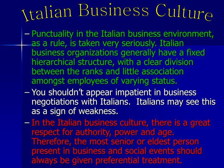 Italian Business Culture