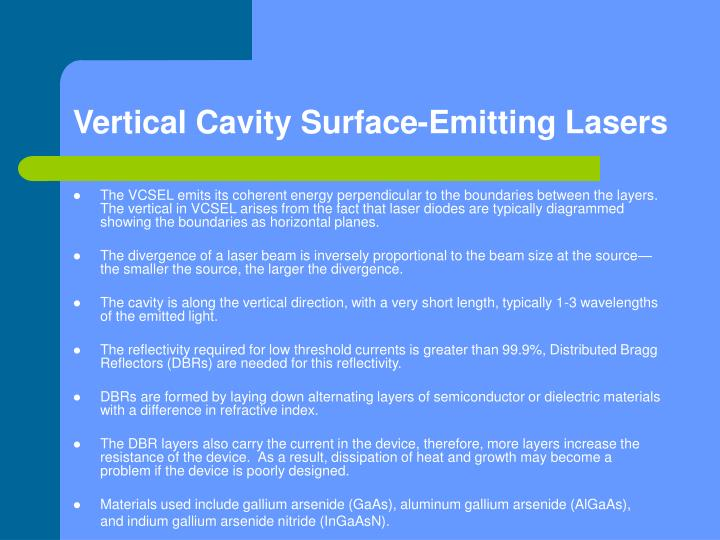 Vertical Cavity Surface-Emitting Lasers