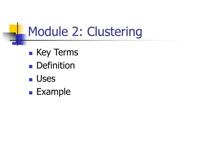 Module 2: Clustering