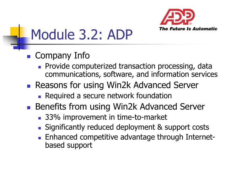 Module 3.2: ADP