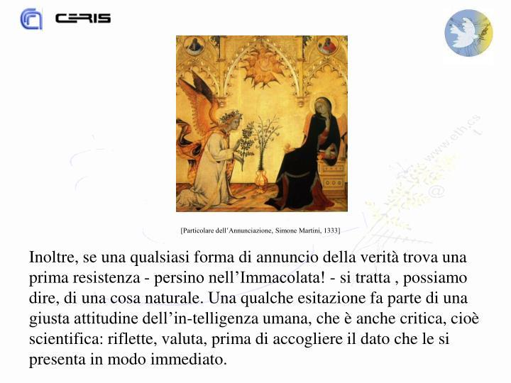 [Particolare dell'Annunciazione, Simone Martini, 1333]
