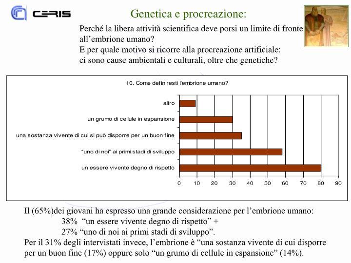 Genetica e procreazione: