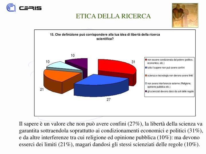 ETICA DELLA RICERCA