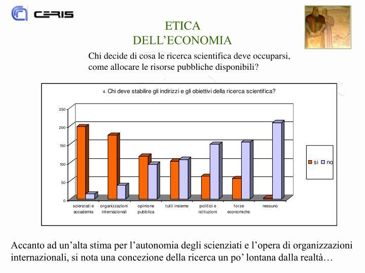 ETICA DELL'ECONOMIA