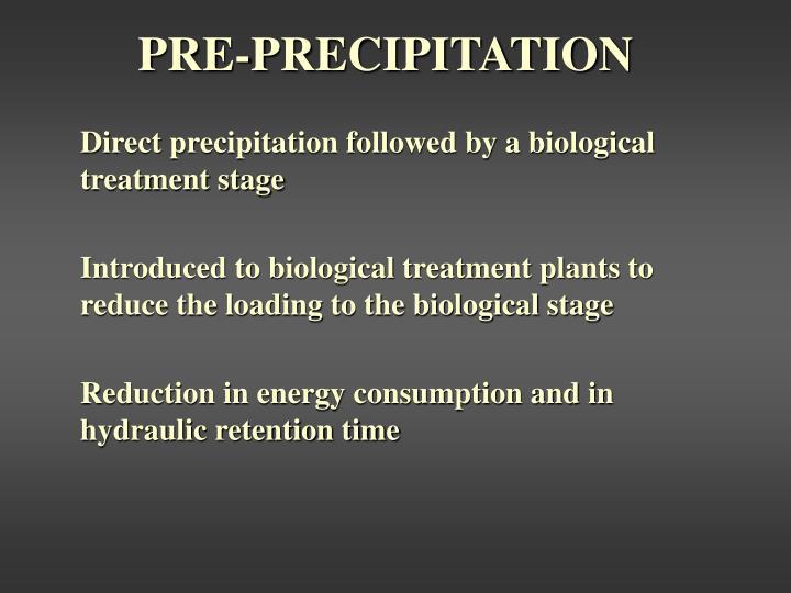 PRE-PRECIPITATION
