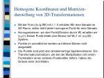 homogene koordinaten und matrizen darstellung von 2d transformationen2