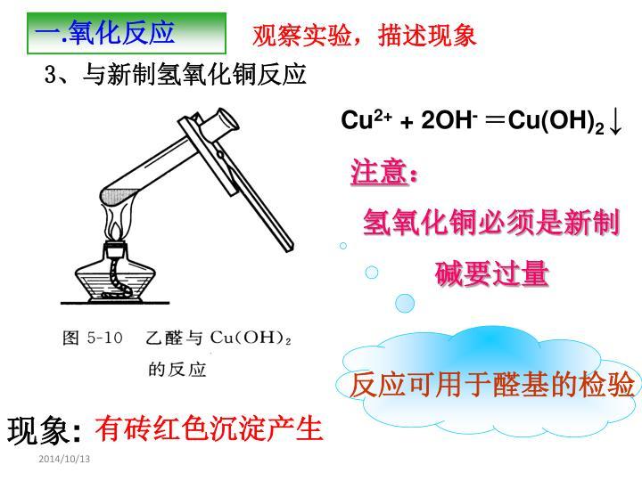 反应可用于醛基的检验