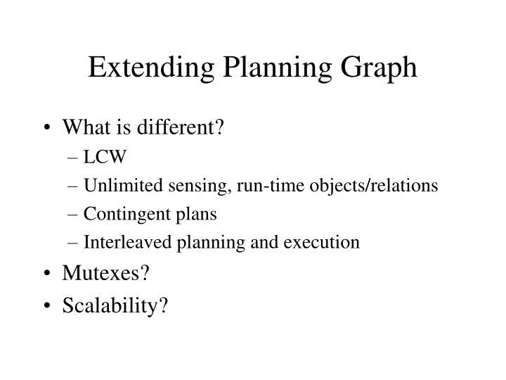 Extending Planning Graph