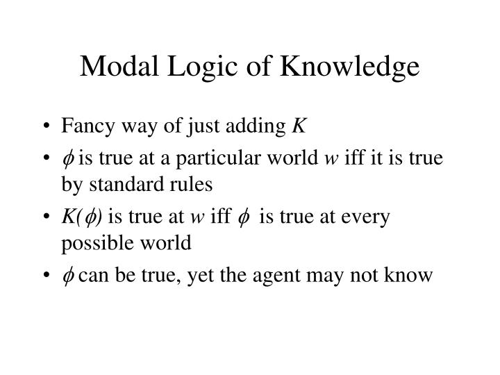 Modal Logic of Knowledge