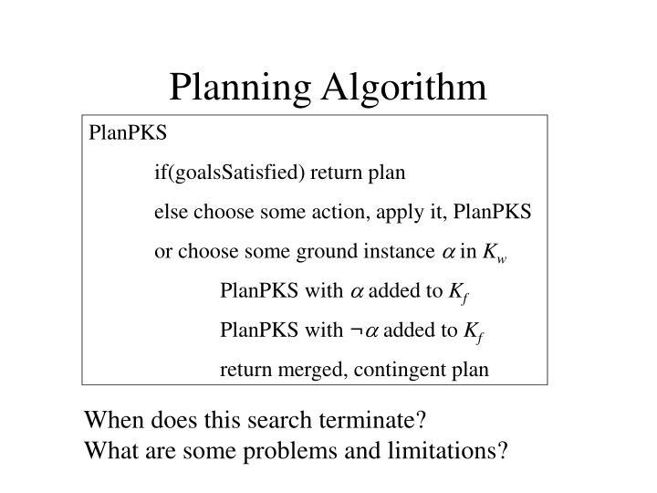 Planning Algorithm