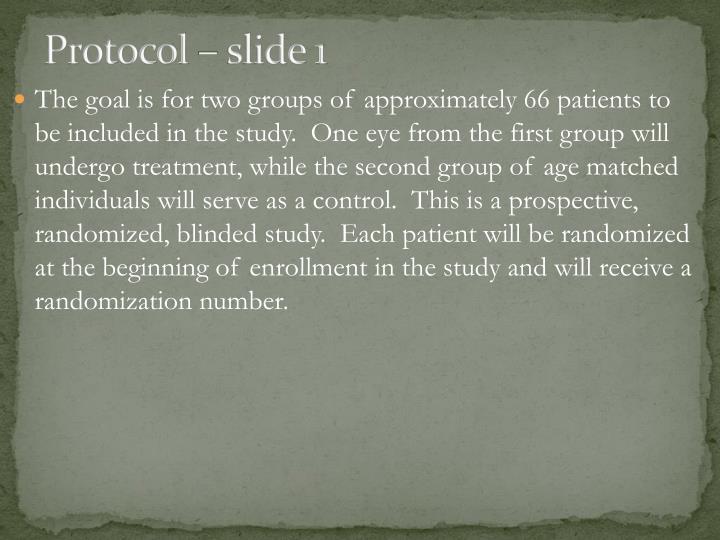 Protocol – slide 1