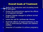 overall goals of treatment