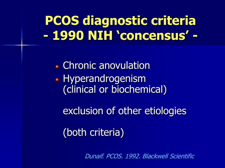 PCOS diagnostic criteria