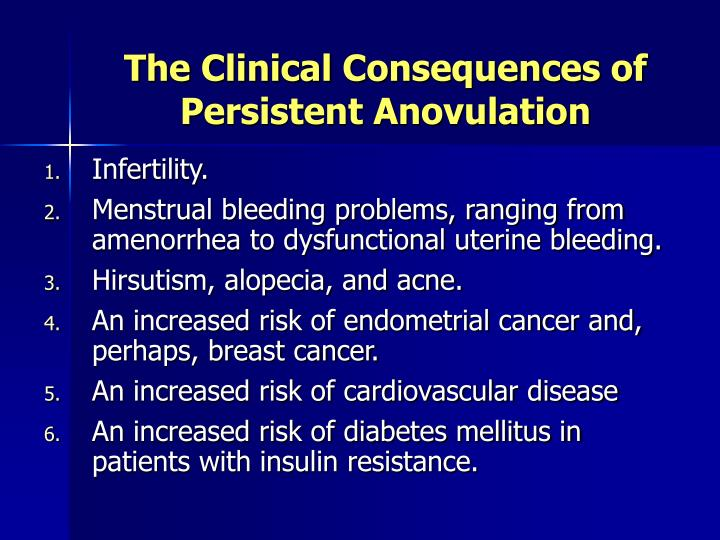 The Clinical Consequences of Persistent Anovulation