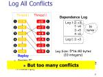 log all conflicts