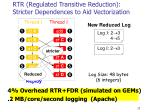 rtr regulated transitive reduction stricter dependences to aid vectorization