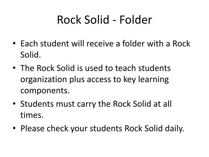 Rock Solid - Folder