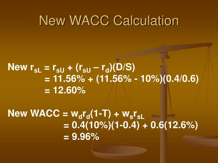 New WACC Calculation