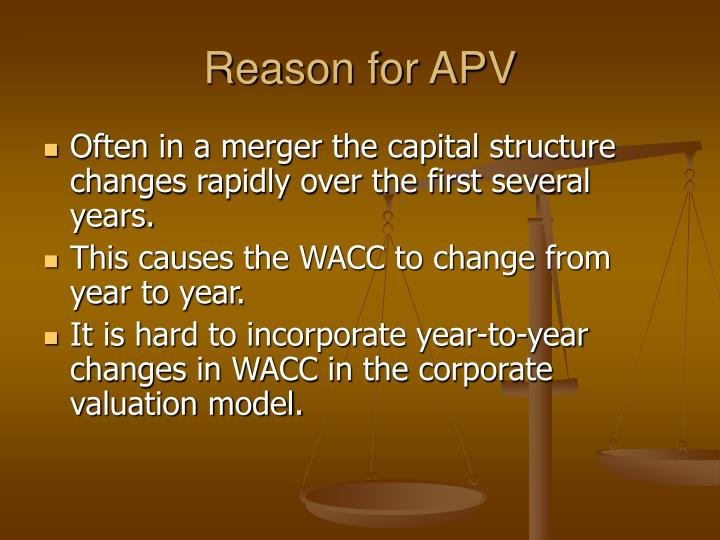 Reason for APV
