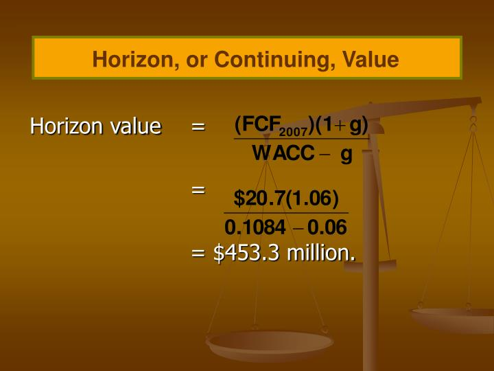 Horizon, or Continuing, Value