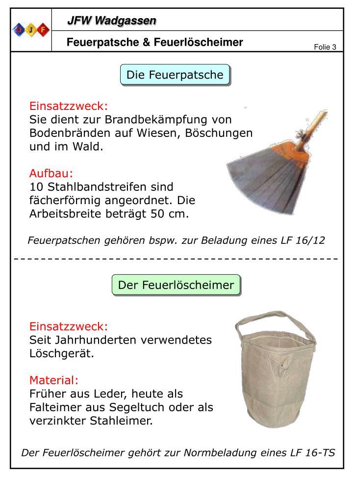 Feuerpatsche & Feuerlöscheimer