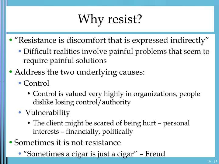 Why resist?