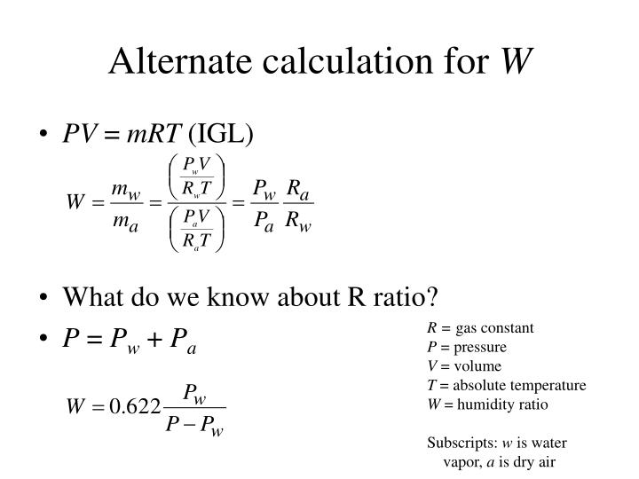 Alternate calculation for