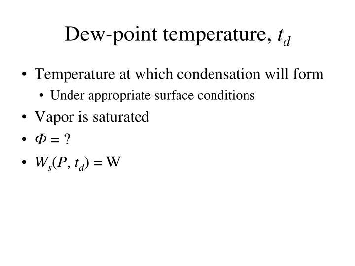 Dew-point temperature,