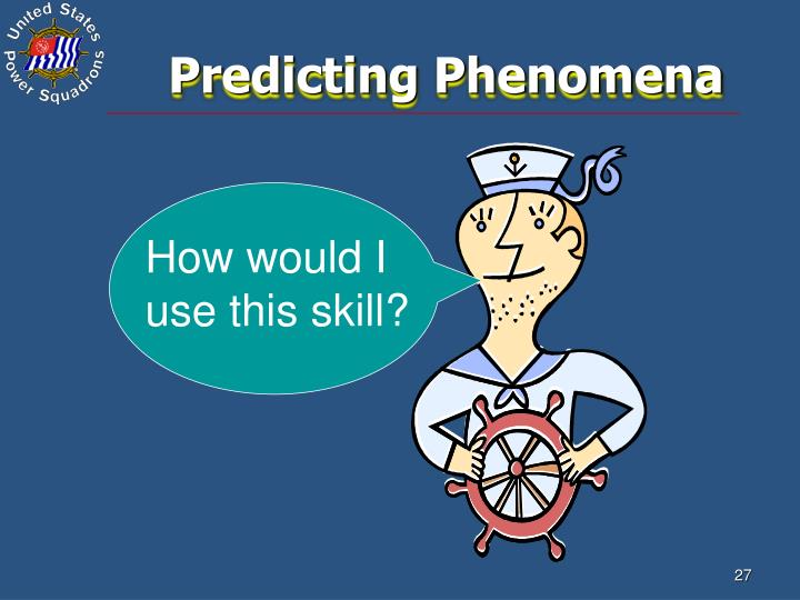 Predicting Phenomena